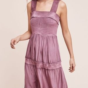 Anthropologie Silk and Sweater Chemise Dress